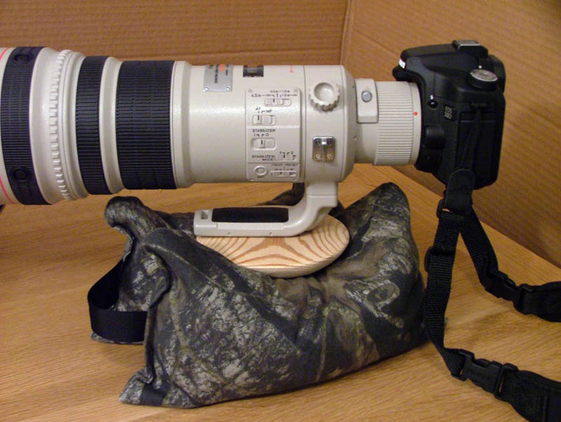 The Flying Saucer Ball Head Mounted On A 500mm Lens