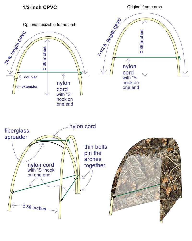 Very Lightweight, Folding Portable Blinds