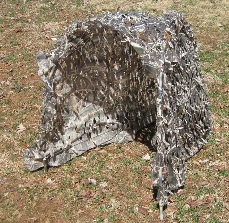 Homemade Portable Hunting Blinds portable duck hunting blinds muskrat hut blind made out of wire
